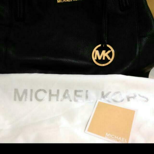 MK 大容量 黑色包 皮革