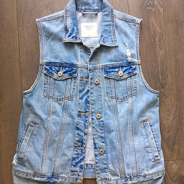 Abercrombie Destroyed Denim Vest