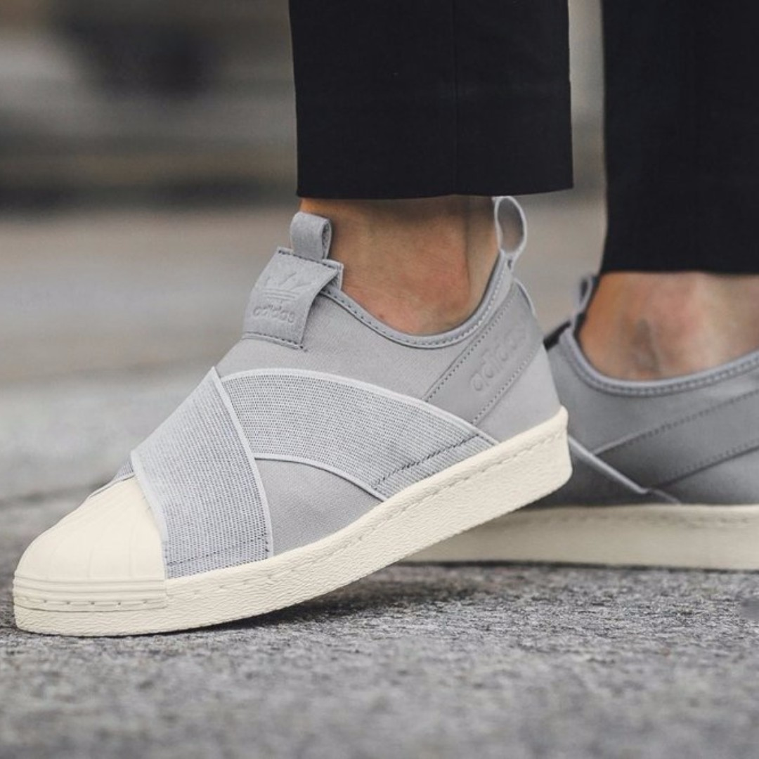 35c69f37f6fa In stock  UK4 Adidas Womens Superstar Slip On Onix Grey