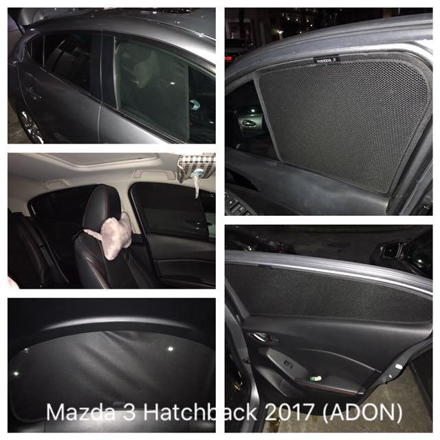 Adon Shades Custom Fit Magnetic Sunshade For Mazda 3 2017