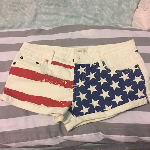 American flag short shorts