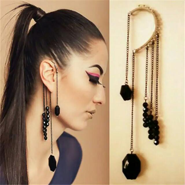 Anting Cuff Stylish Punk Earrings