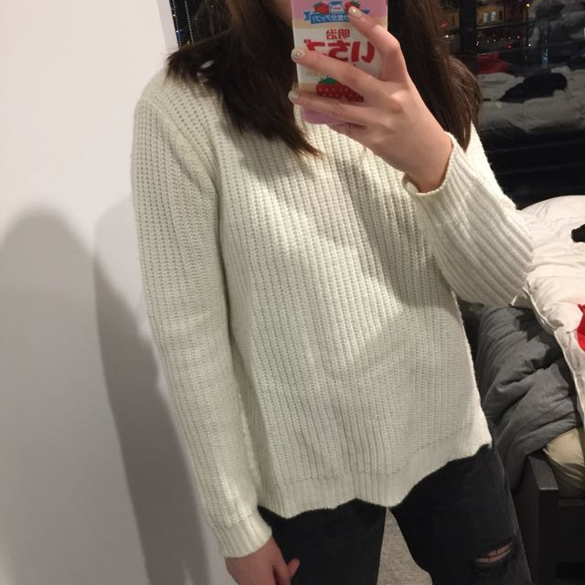 Asos white knit jumper