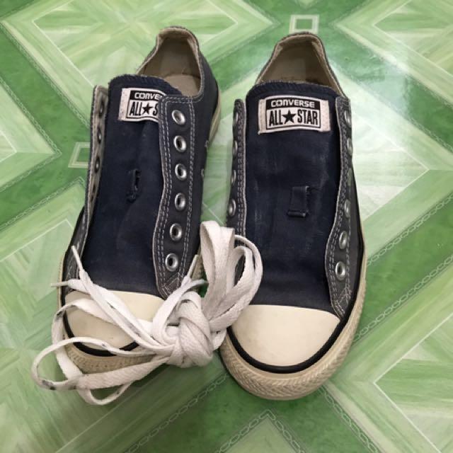 8ac1abce12d Authentic converse shoes (navy blue)