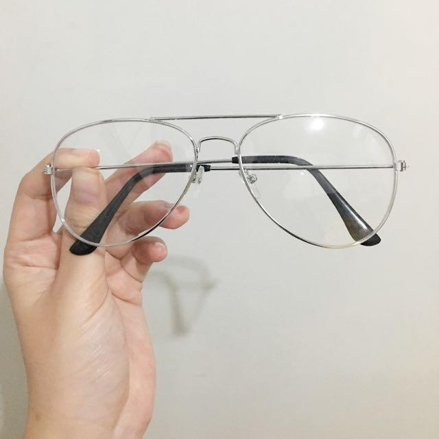 Aviator Glasses Silver