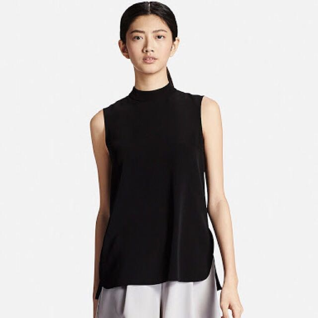 Black uniqlo business top BNWT