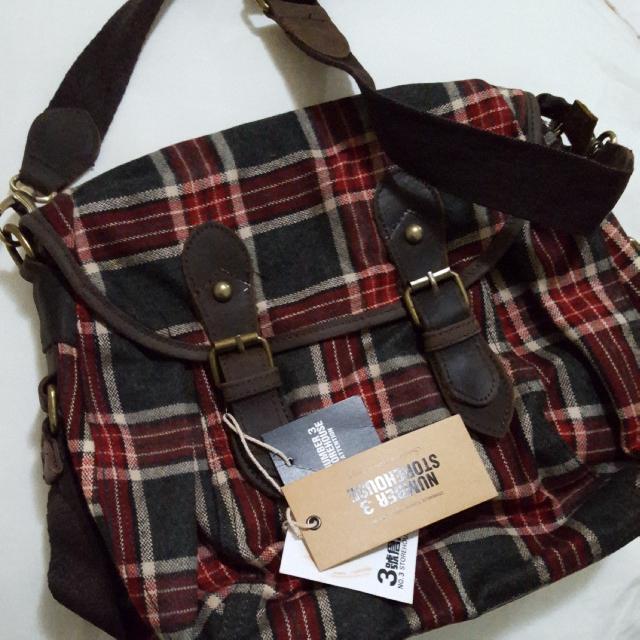 BNWT Checkered Messenger Bag