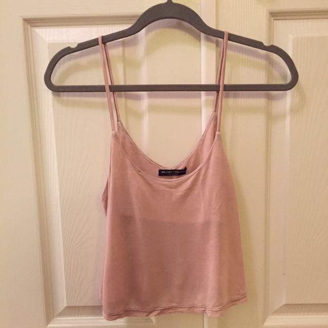 Brandy Melville Pink Crop Top