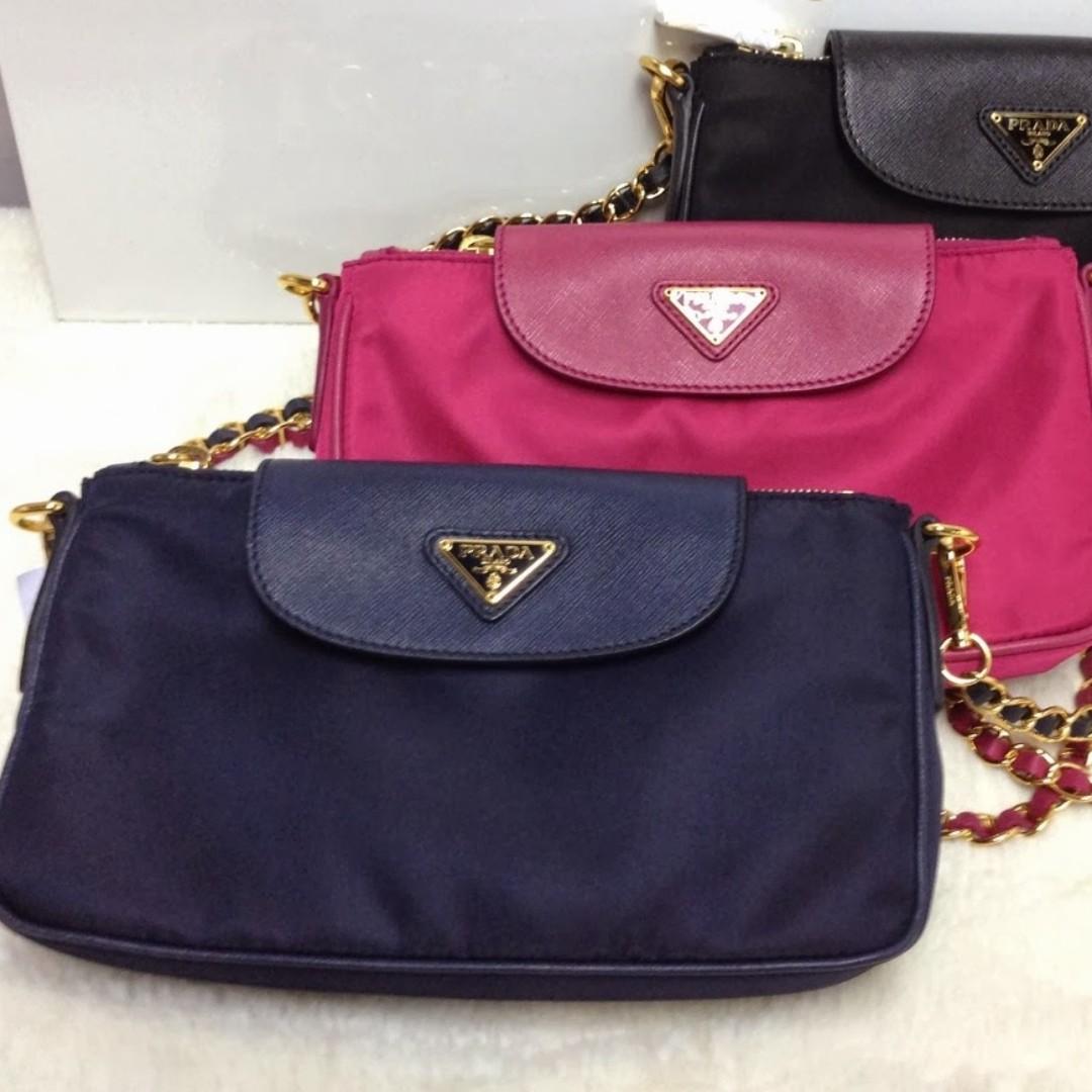 d0c918cc288d BT0779 Prada Tessuto Nylon Convertible Clutch Bag !!! 100% AUTHENTIC ...