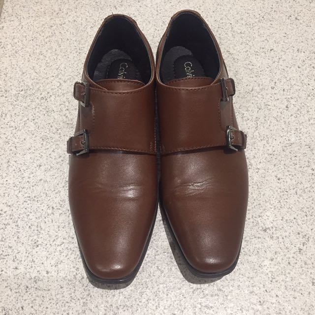 Calvin Klein Double Monk Brown Shoes us7 eu39