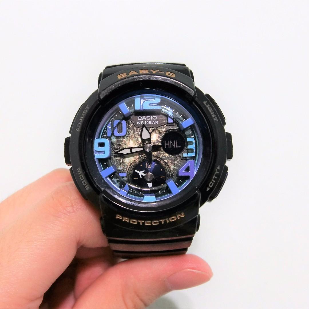 CASIO 卡西歐 Baby-G 數字鬧鈴雙顯錶 BGA-190GL-1B #含運最划算