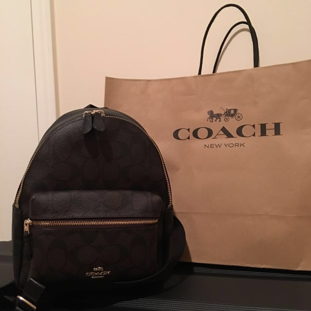 【美國代購】全新Coach限量後背小包 迷你後背包、小後背包
