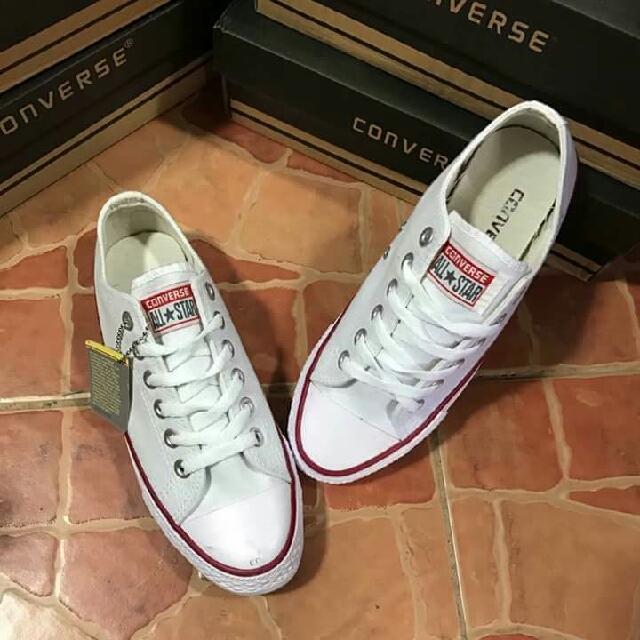 Converse White Class A Size 7