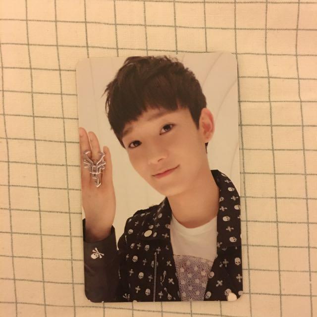 EXO Chen MAMA Ver. B Official Photocard