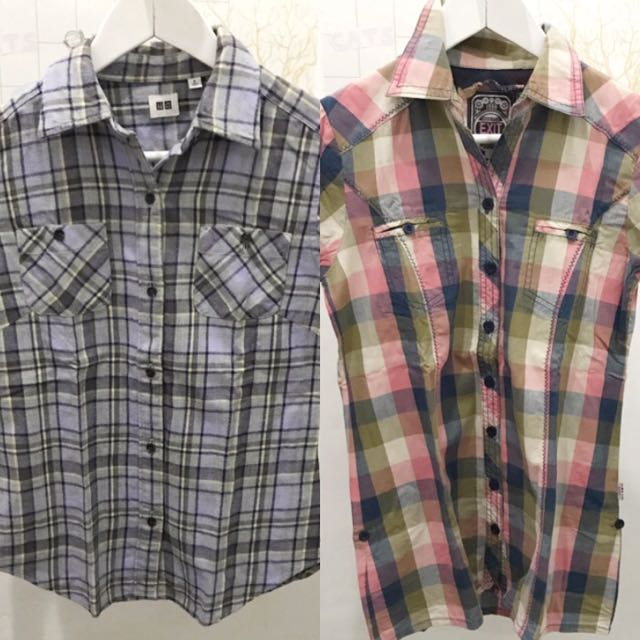 #FlashDeals flannel uniqlo and flannel shirt by exit