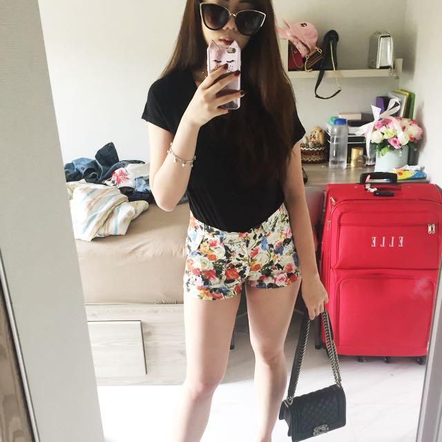 floral shorts HW