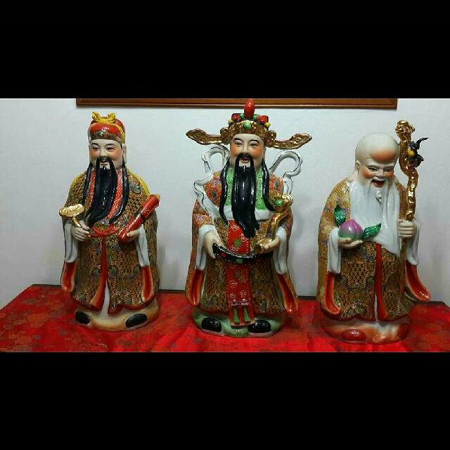 Fok Lok Sau Fortune Statues
