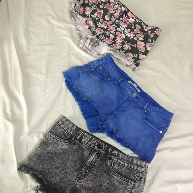 Forever 21 and H&M short shorts (bundle)