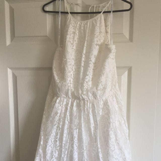 Forever New White Lace Skater Dress