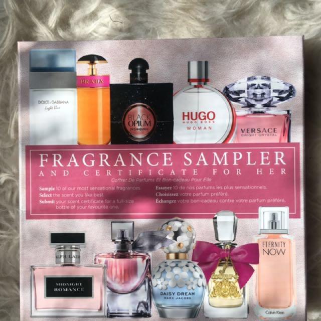 Fragrance Sampler with free full-sized perfume