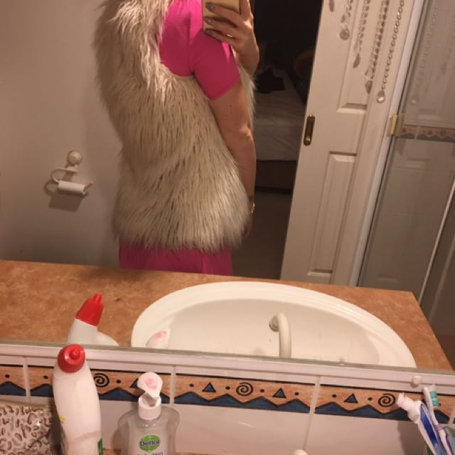 Furry Cream XS vest