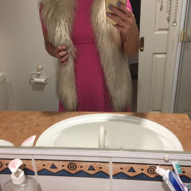 Furry Cream XS vest