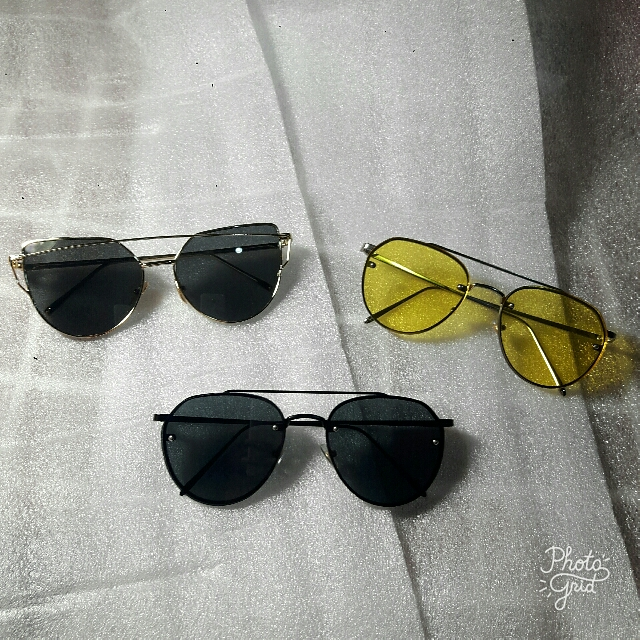 Gentle Monster (GM) Look A Like Sunglasses / Kacamata Hitam Fashion - Black