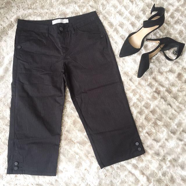 Giordano Black Striped Khaki Pants