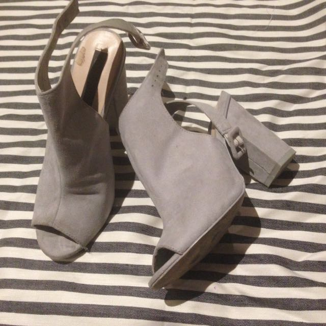 Grey forever new heels