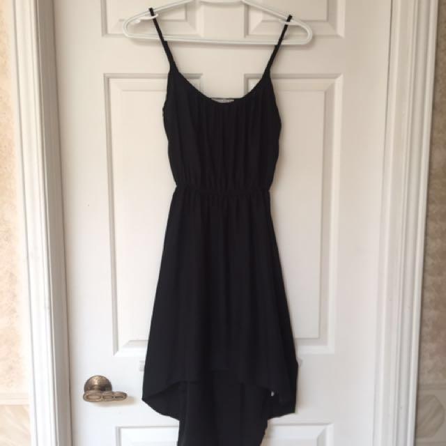 High-Low Black Dress