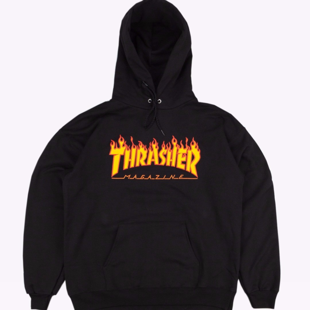 Hoodie Thrasher Flame Black