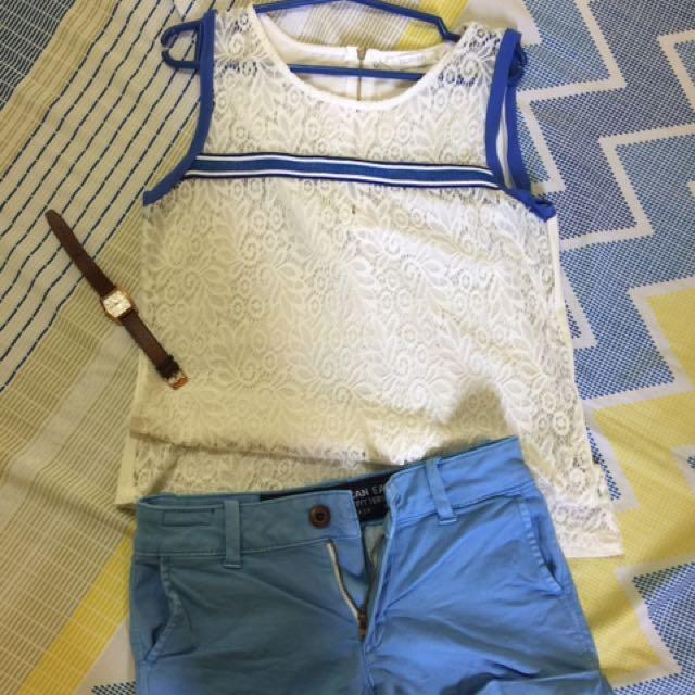 human white lace sleeveless