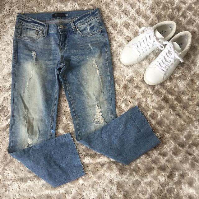 Indigo 6 Distressed Denim Pants