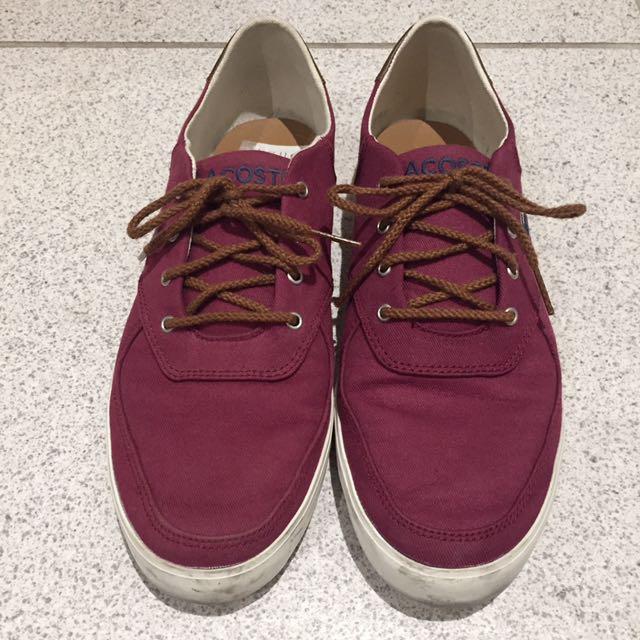Lacoste dark red sneakers us9 eu42