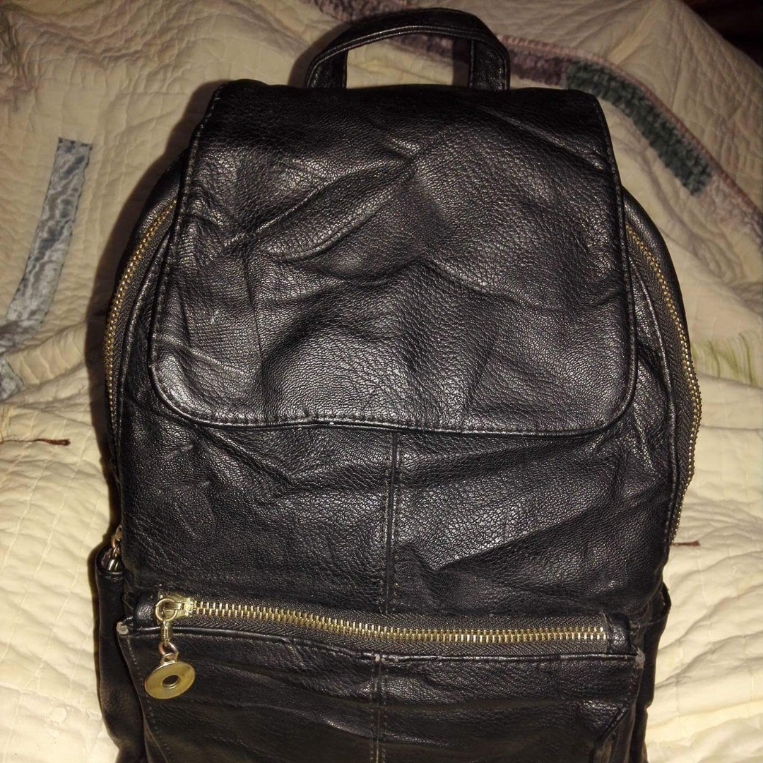 LEATHER NO BRAND BACK PACK
