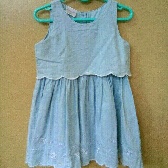 Little Miss Dainty Denim Dress