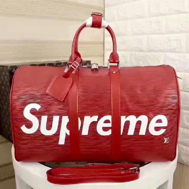 lv supreme gym bag
