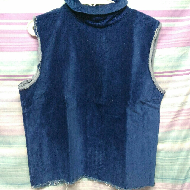 Maong Velvety Top