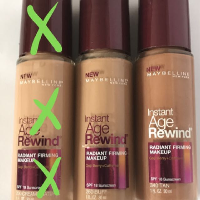 Maybelline Foundations