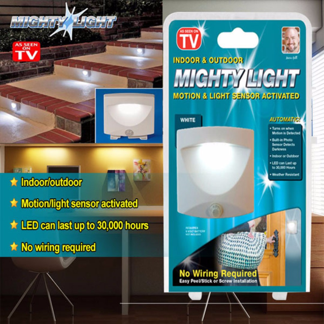 Mighty Light Motion Sensor Portable In Night Lampu Malap Malam No Wiring Lighting Photo