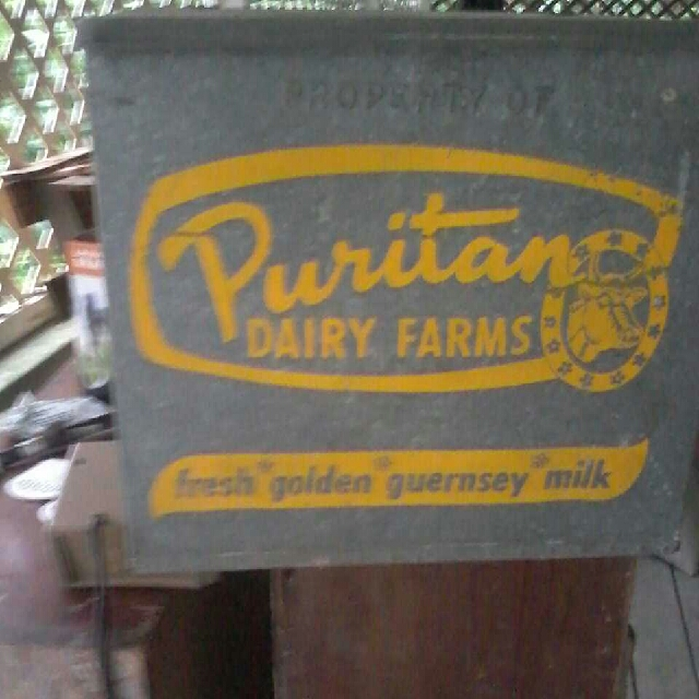 Milk Box  Antique