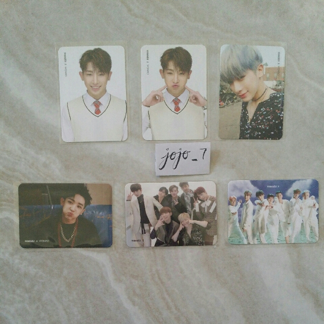 MONSTA X Wonho + Group Photocards