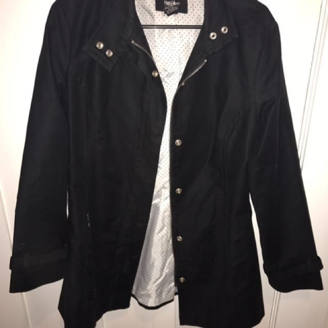 Mossimo Black Outerwear Jacket