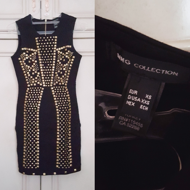 (NEW) Mango Studded Bodycon Dress // Pakaian Wanita