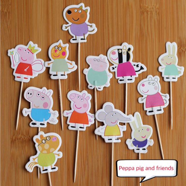 New Peppa Pig And Friends Cake Cupcake Topper Decorations