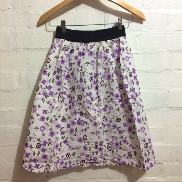 No-brand Flowery Skirt