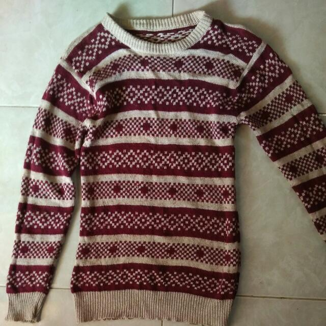 Pattern Knitted Sweater