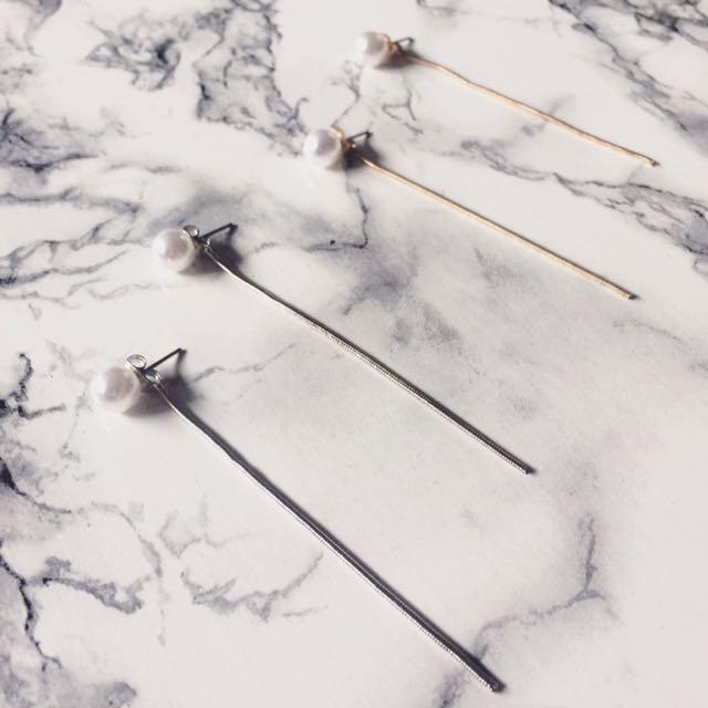 Pearl Long Chain Earring
