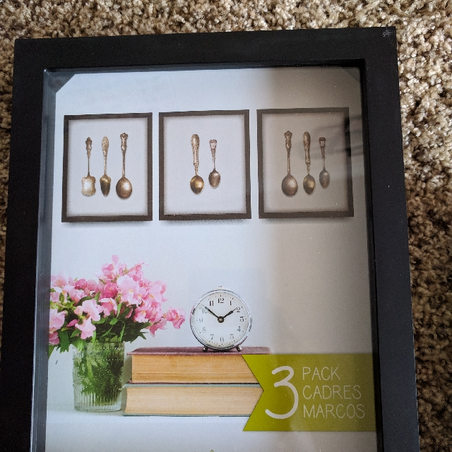 Photo Frame 3 Pack Shadowbox Black 8*10 Inches