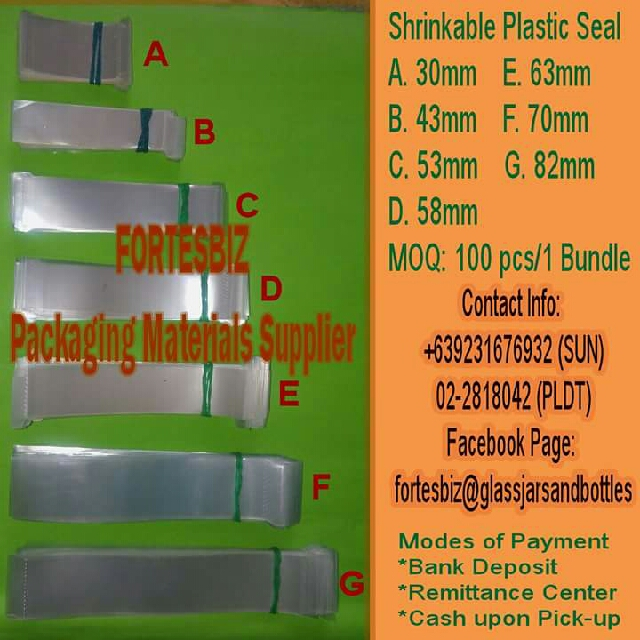 Plastic Seal For Jar,bottles,microwavable and For Water Containers